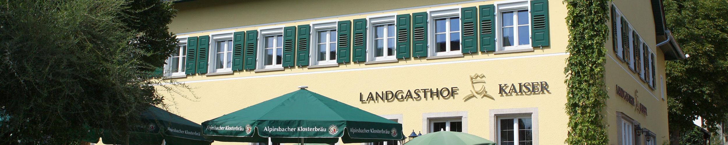 Landgasthof Kaiser Außenansicht